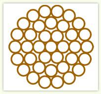 TJ150硬铜绞线1×37结构图